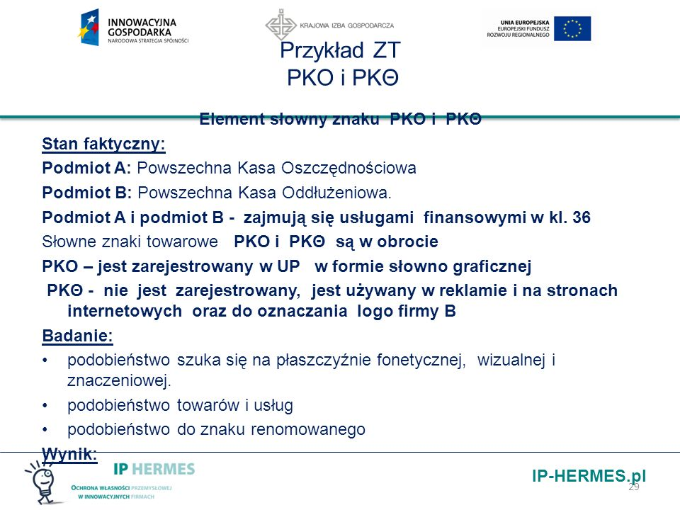 Element słowny znaku PKO i PKΘ