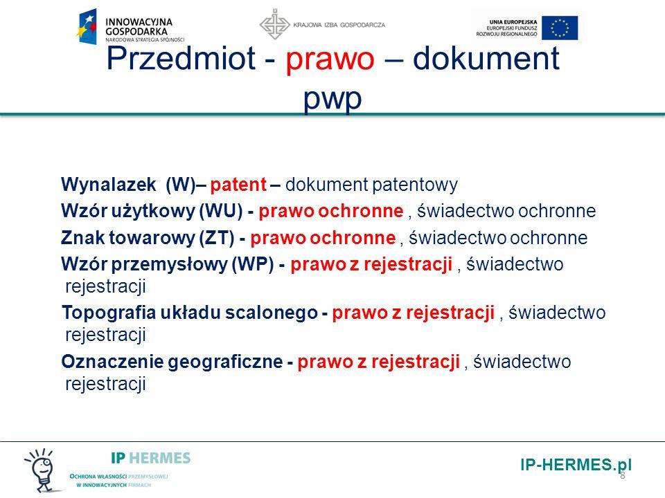 Przedmiot - prawo – dokument pwp