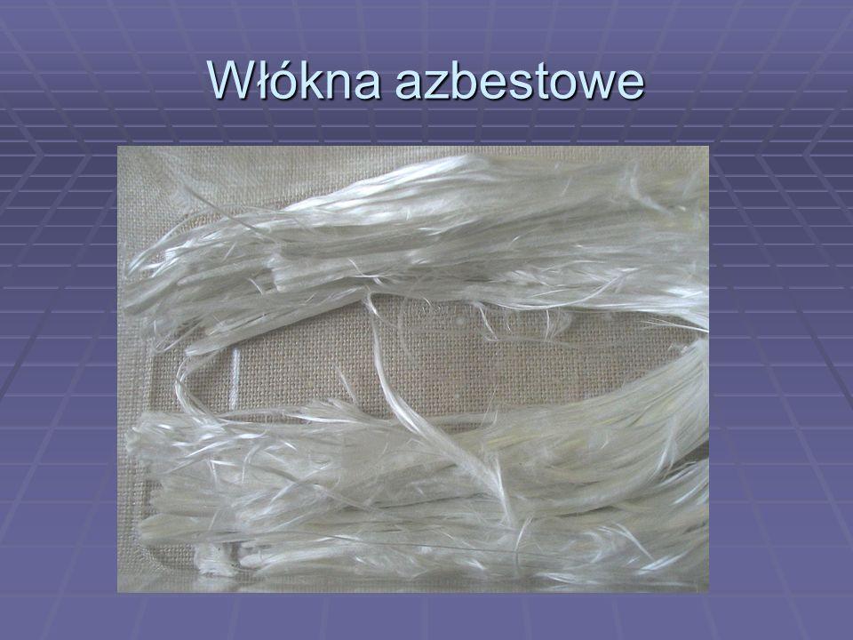 Włókna azbestowe