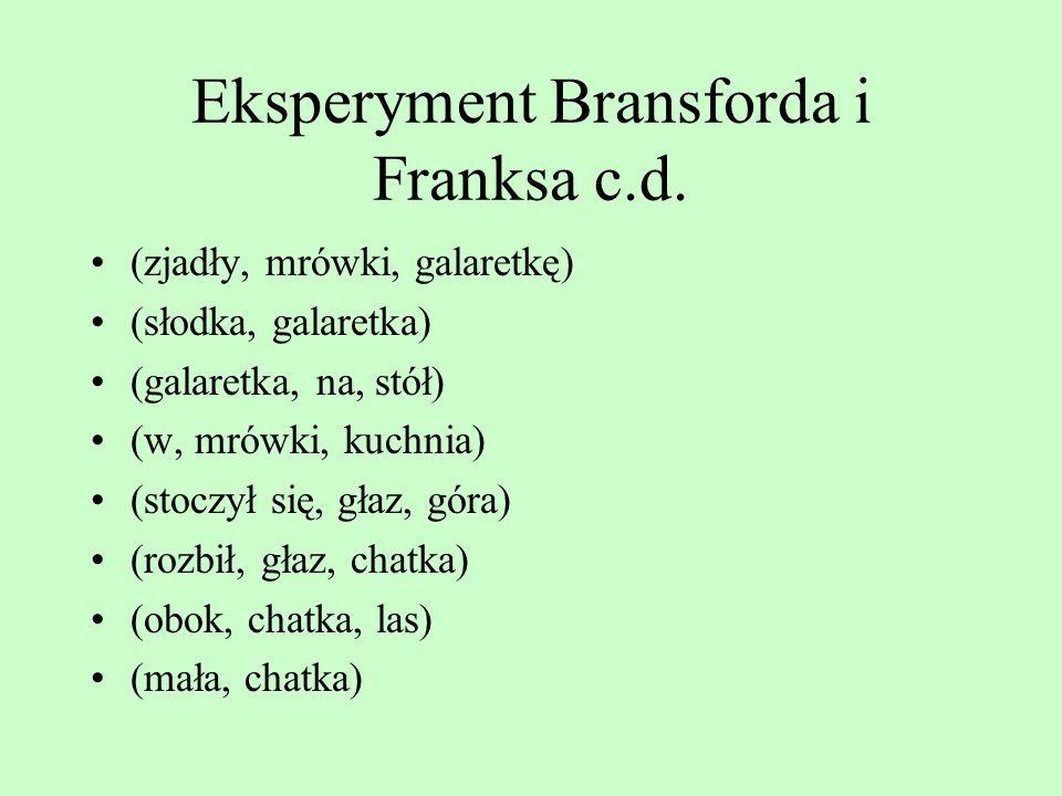 Eksperyment Bransforda i Franksa c.d.