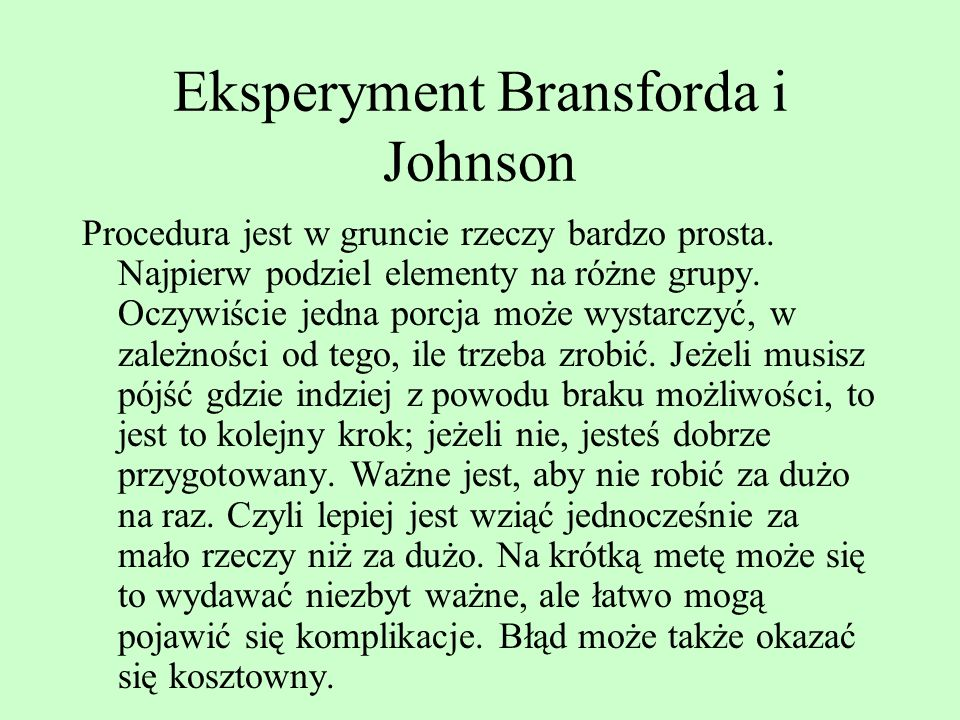 Eksperyment Bransforda i Johnson