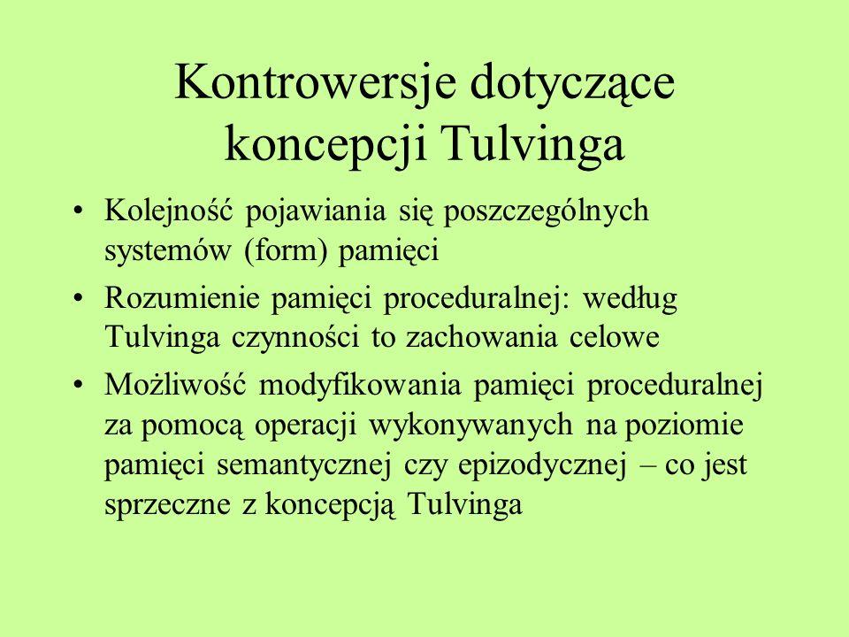 Kontrowersje dotyczące koncepcji Tulvinga