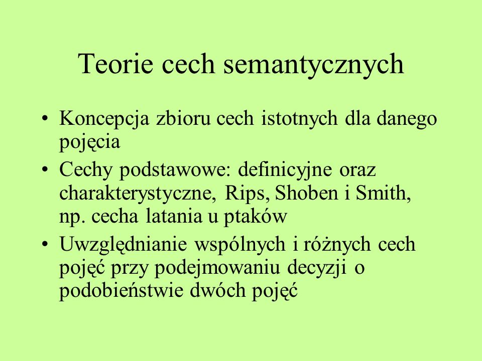 Teorie cech semantycznych