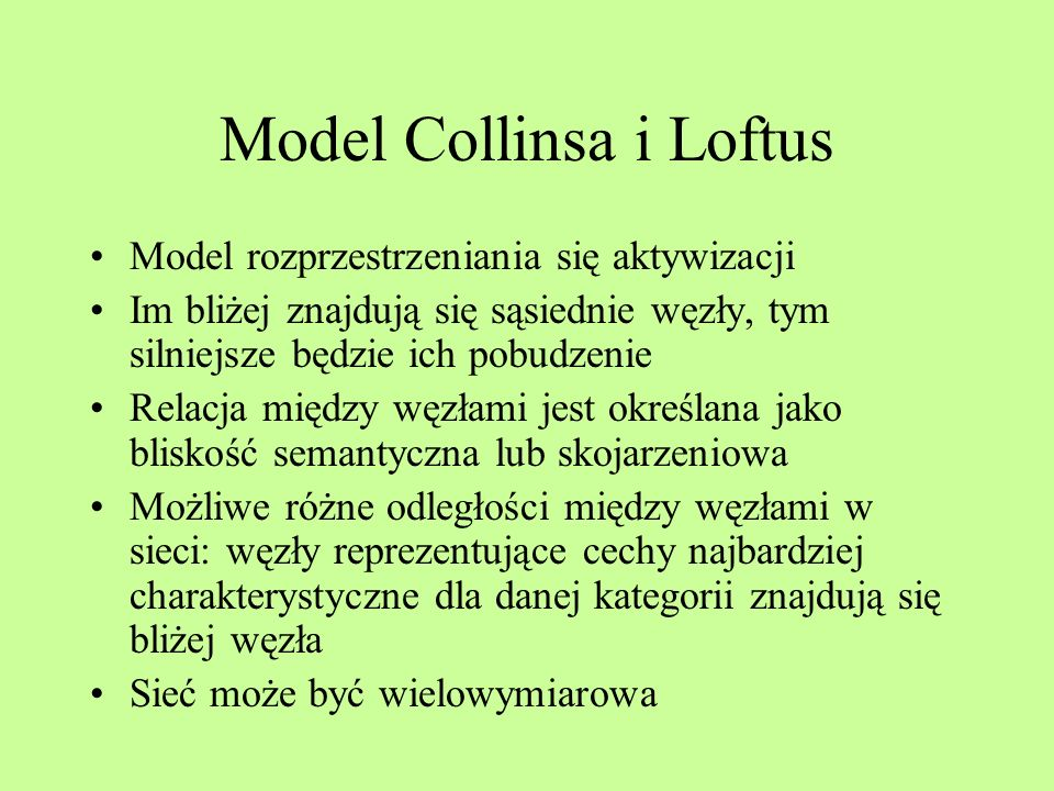 Model Collinsa i Loftus