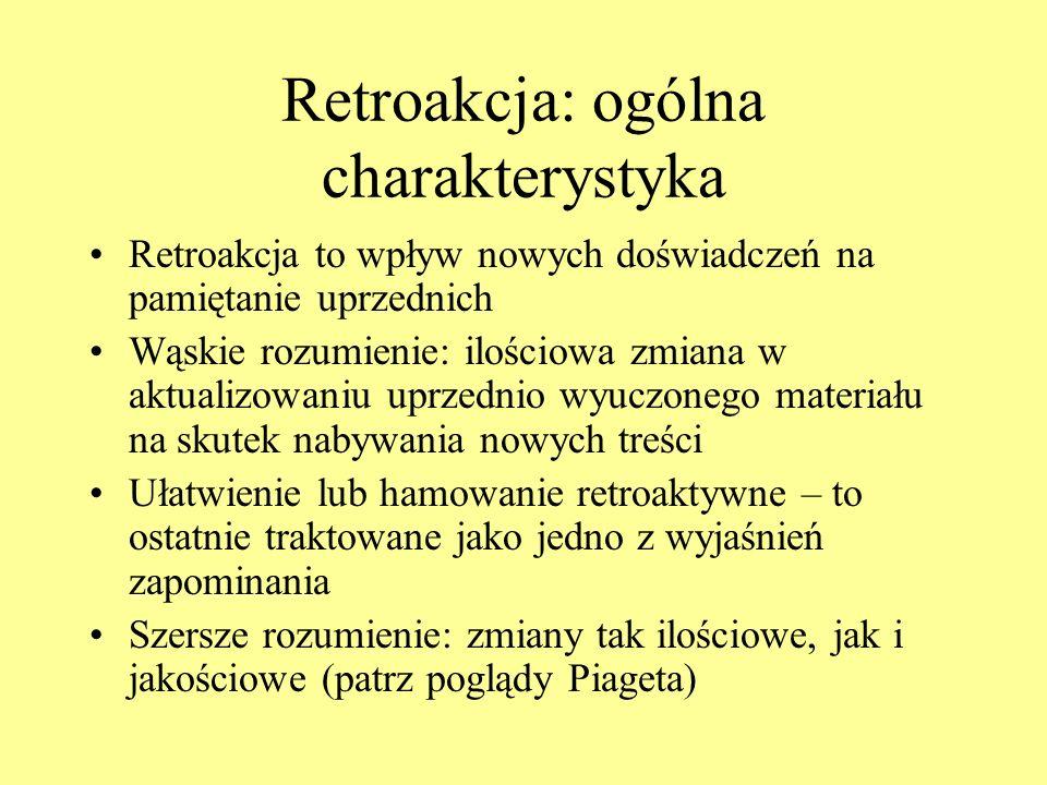 Retroakcja: ogólna charakterystyka
