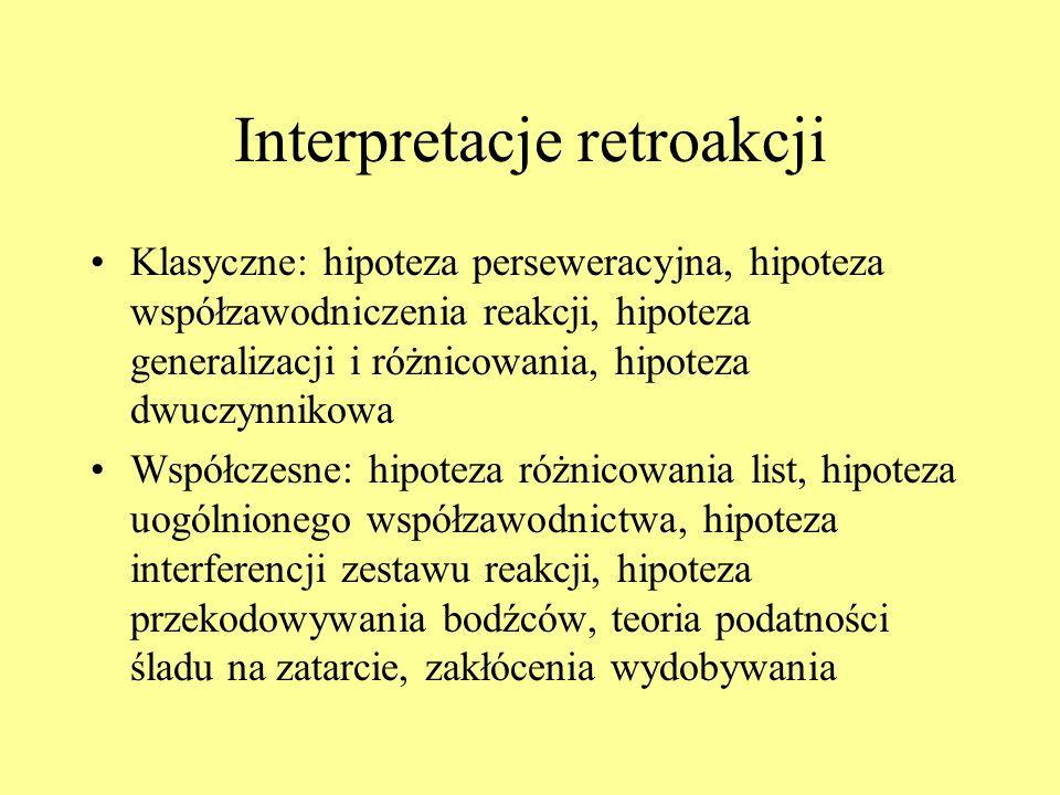 Interpretacje retroakcji