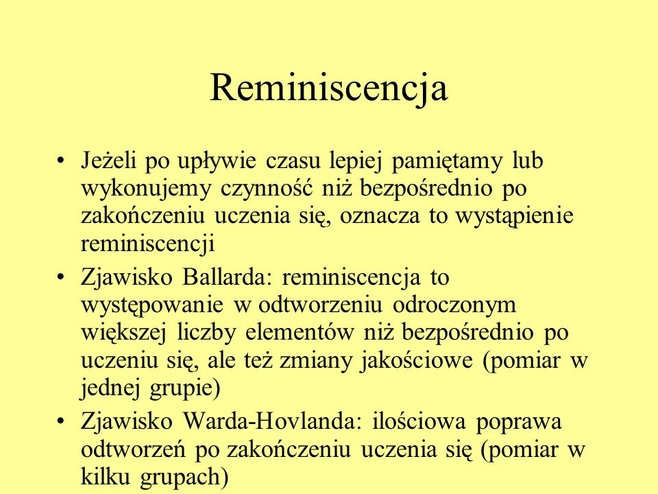 Reminiscencja