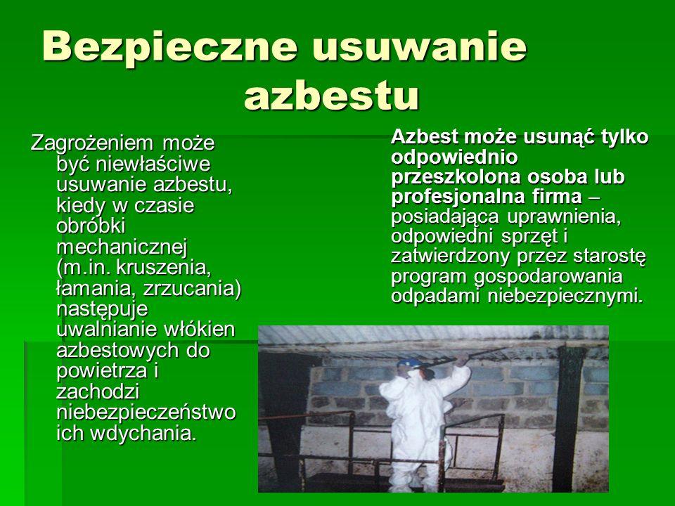 Bezpieczne usuwanie azbestu