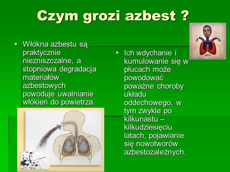 Czym grozi azbest