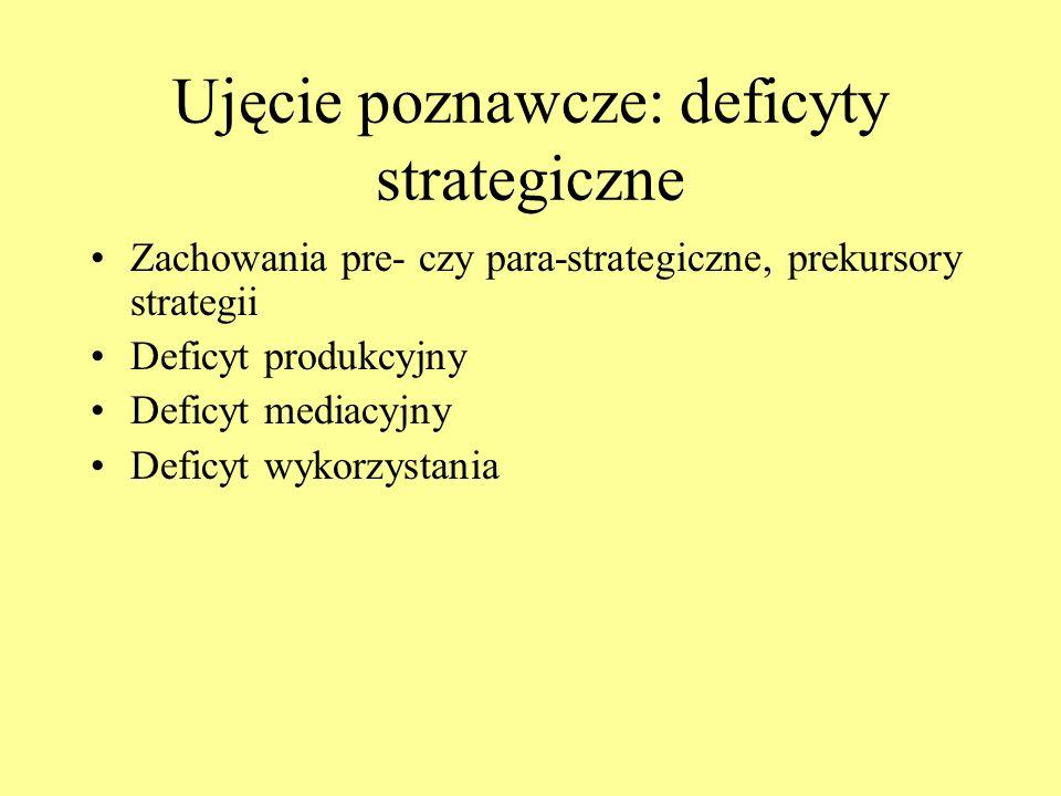 Ujęcie poznawcze: deficyty strategiczne