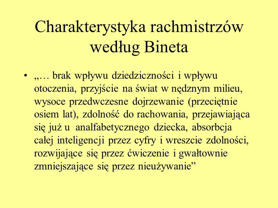 Charakterystyka rachmistrzów według Bineta