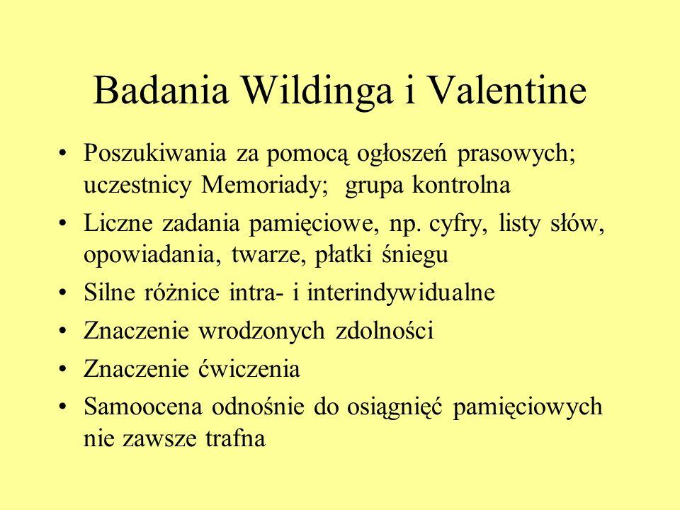 Badania Wildinga i Valentine