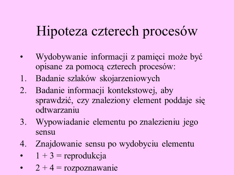 Hipoteza czterech procesów