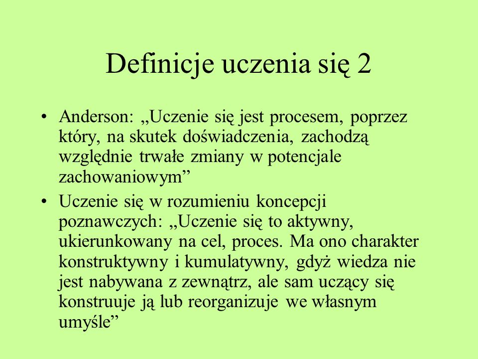 Definicje uczenia się 2