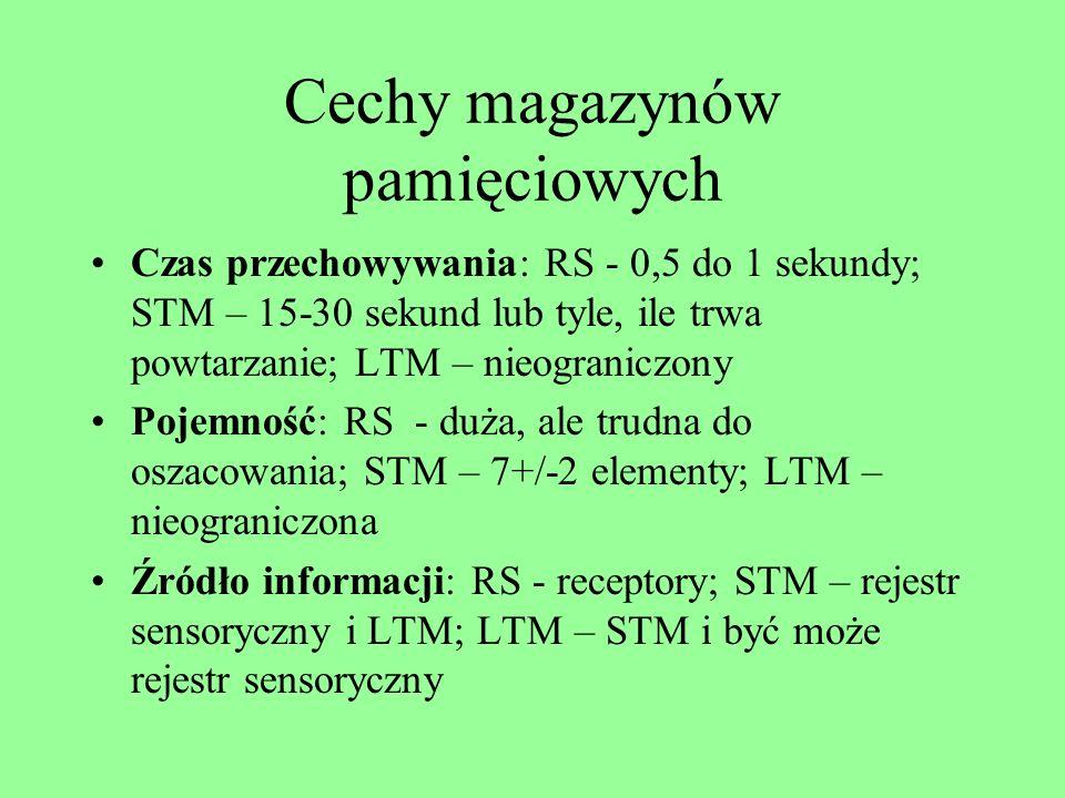 Cechy magazynów pamięciowych