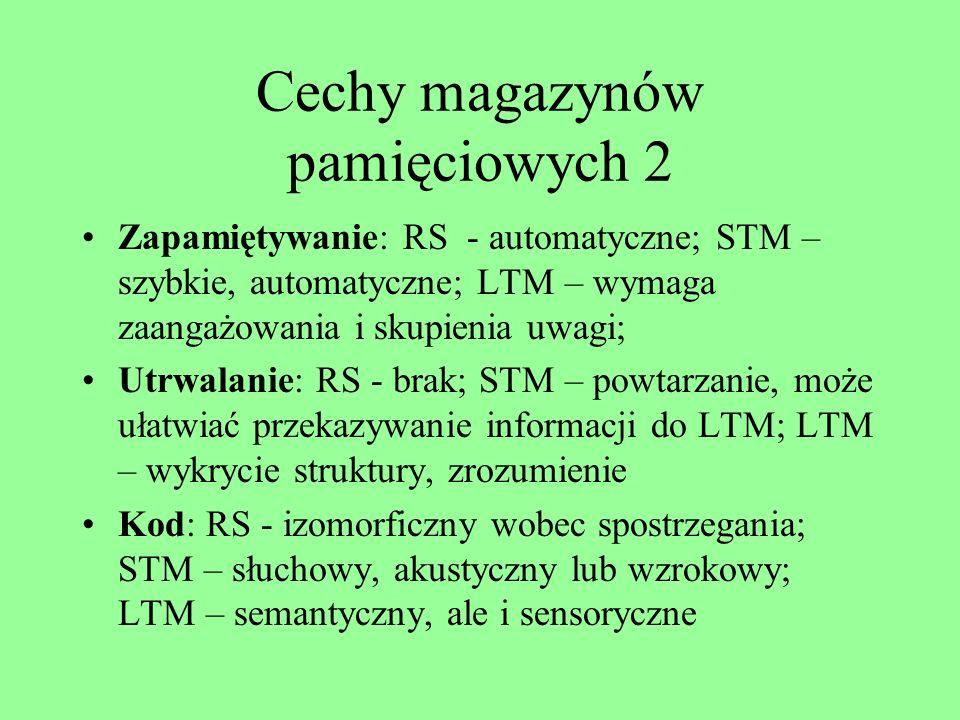 Cechy magazynów pamięciowych 2
