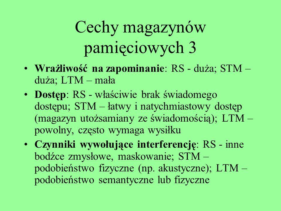 Cechy magazynów pamięciowych 3