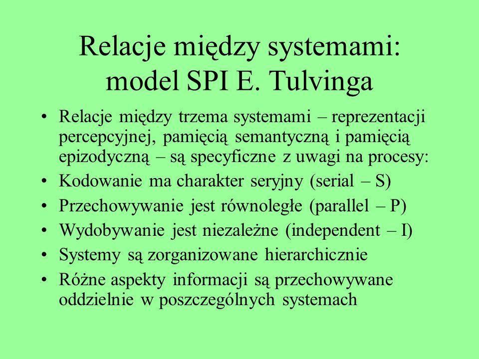 Relacje między systemami: model SPI E. Tulvinga