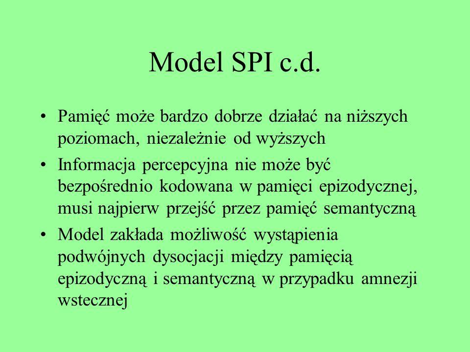 Model SPI c.d. Pamięć może bardzo dobrze działać na niższych poziomach, niezależnie od wyższych.