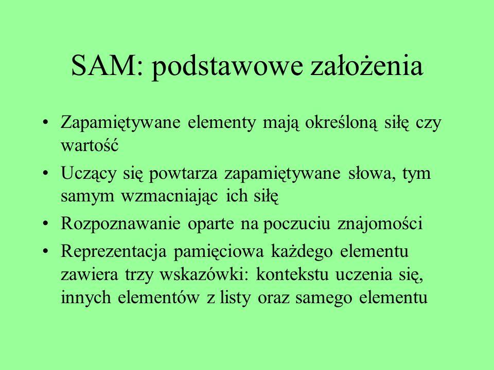 SAM: podstawowe założenia