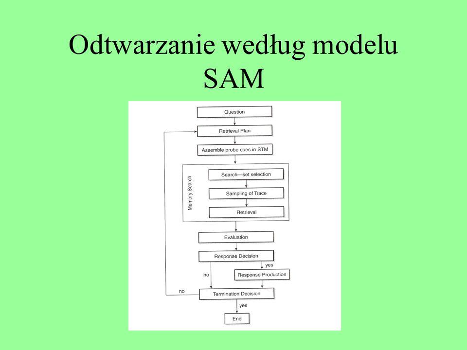 Odtwarzanie według modelu SAM