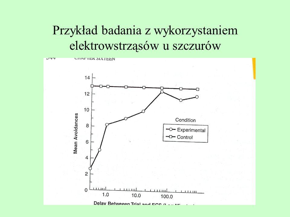 Przykład badania z wykorzystaniem elektrowstrząsów u szczurów