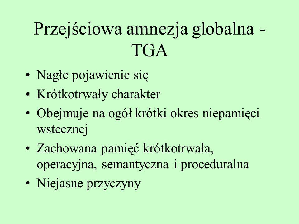 Przejściowa amnezja globalna - TGA