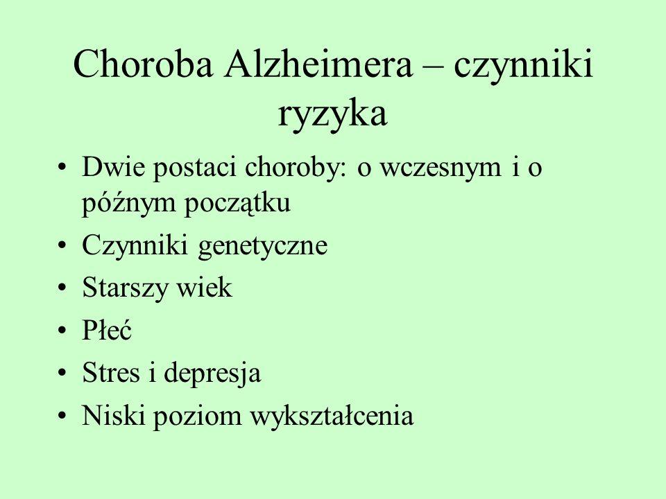 Choroba Alzheimera – czynniki ryzyka