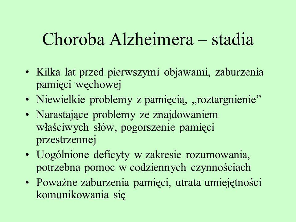 Choroba Alzheimera – stadia