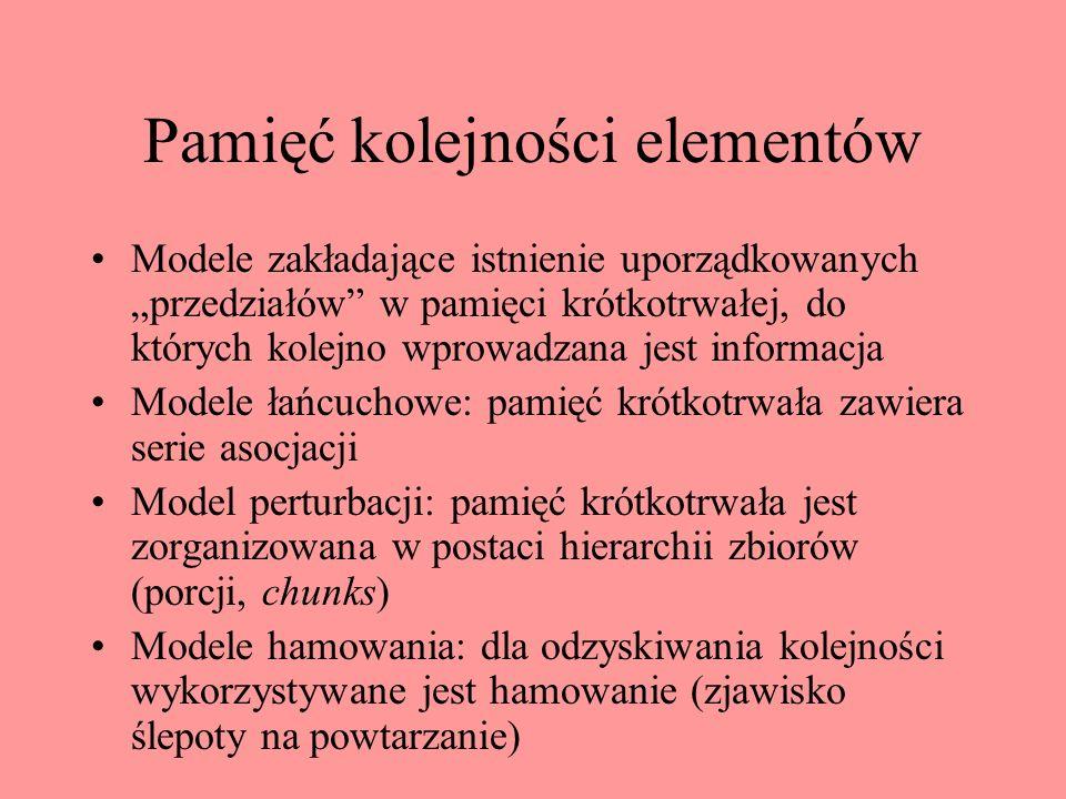 Pamięć kolejności elementów
