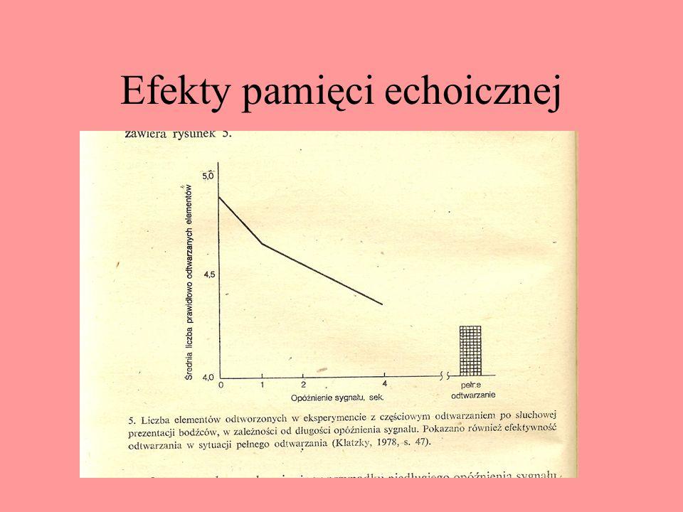 Efekty pamięci echoicznej