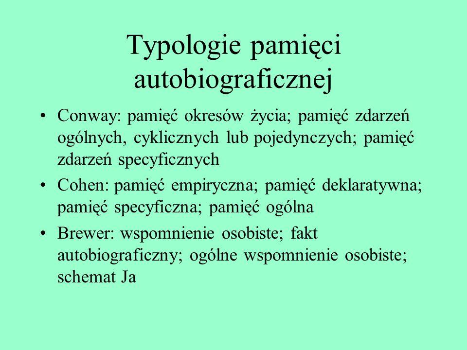 Typologie pamięci autobiograficznej