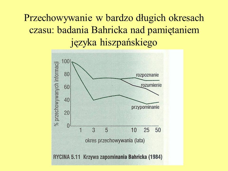 Przechowywanie w bardzo długich okresach czasu: badania Bahricka nad pamiętaniem języka hiszpańskiego