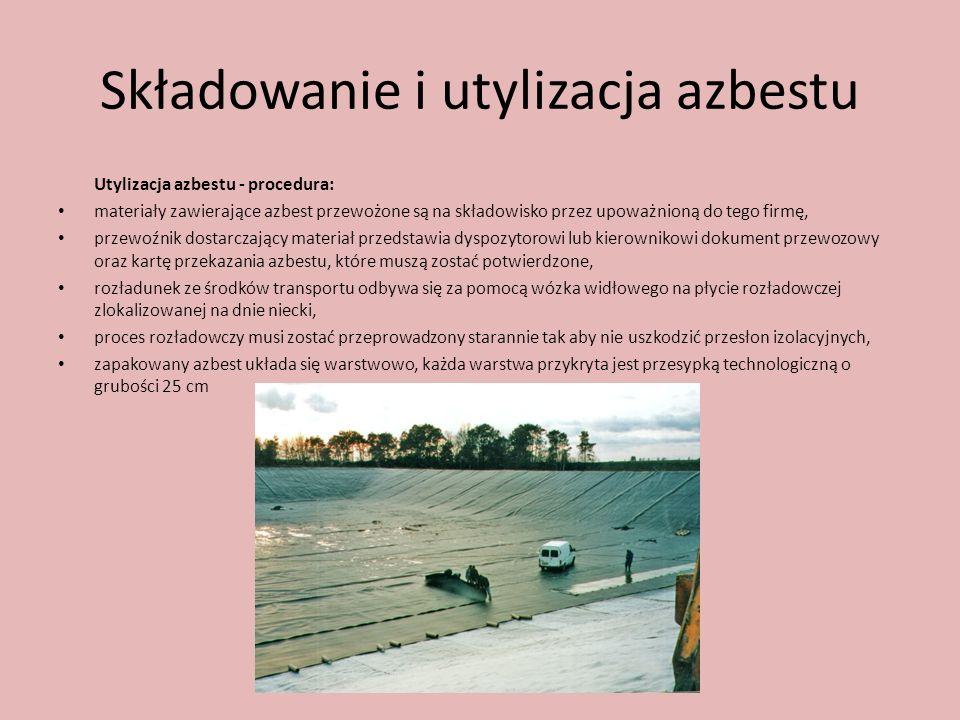 Składowanie i utylizacja azbestu