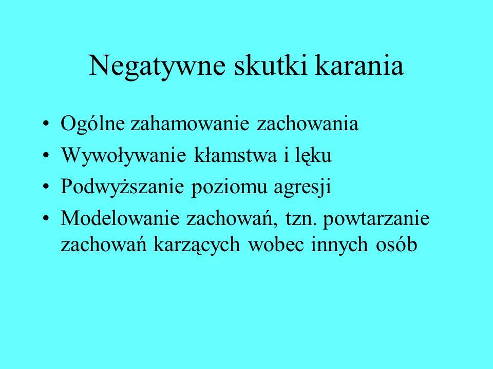 Negatywne skutki karania