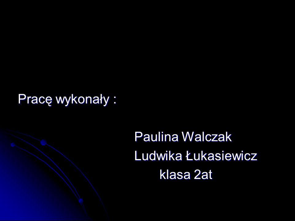 Pracę wykonały : Paulina Walczak Ludwika Łukasiewicz klasa 2at