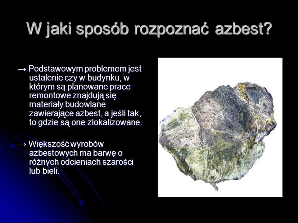 W jaki sposób rozpoznać azbest