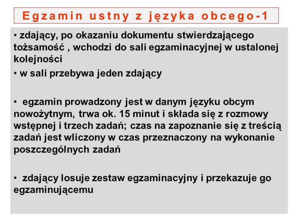 Egzamin ustny z języka obcego-1