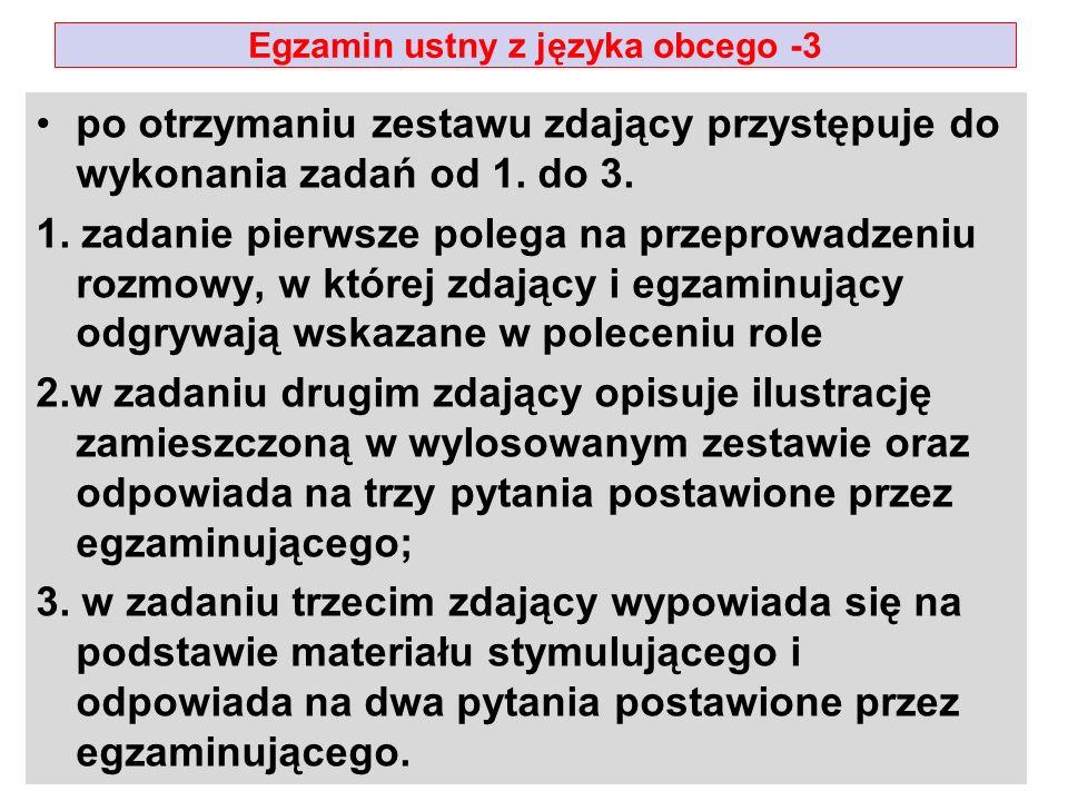 Egzamin ustny z języka obcego -3