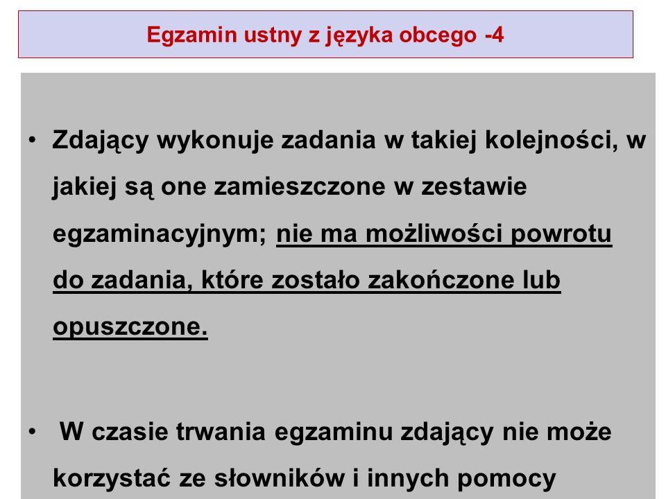 Egzamin ustny z języka obcego -4