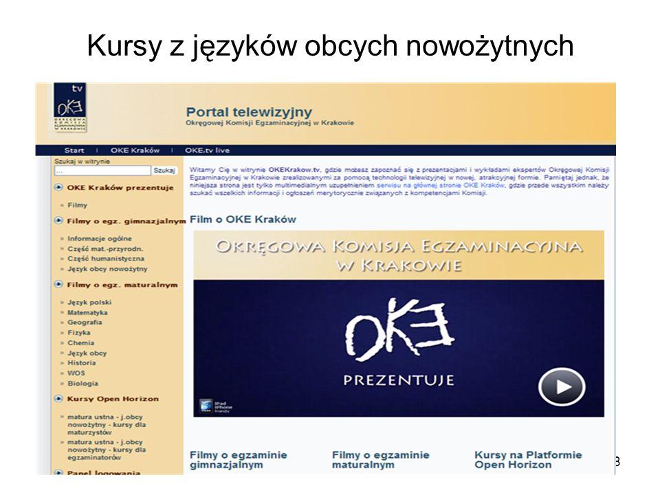Kursy z języków obcych nowożytnych