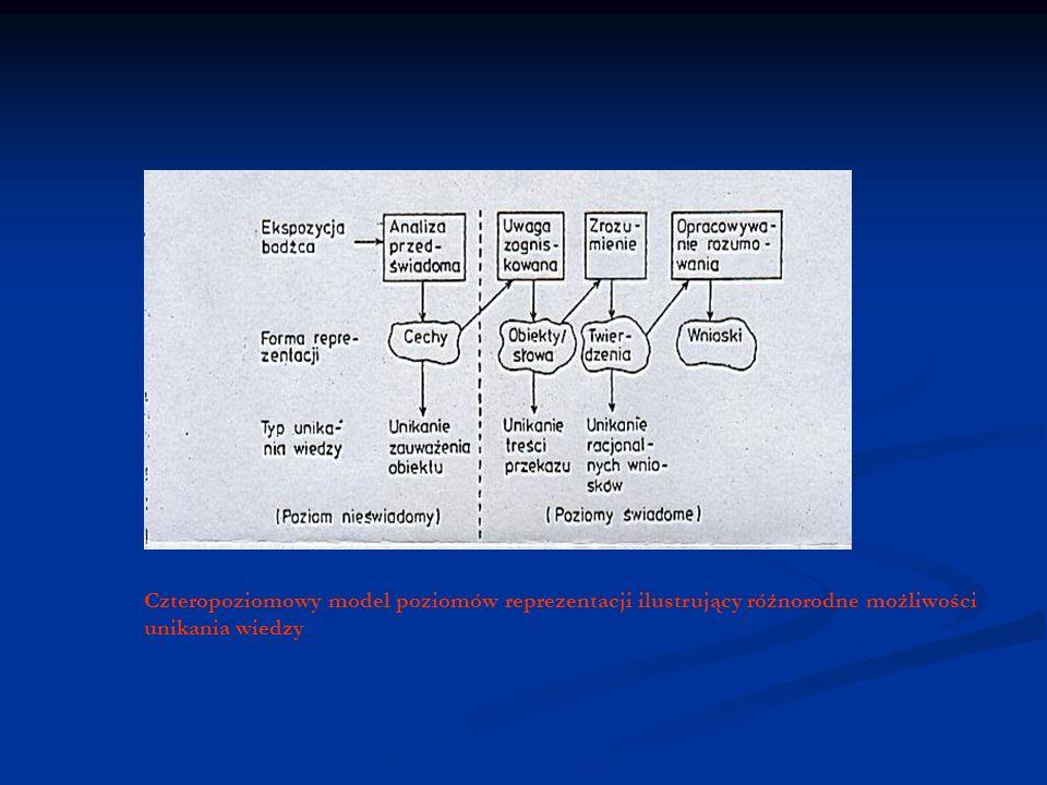 Czteropoziomowy model poziomów reprezentacji ilustrujący różnorodne możliwości