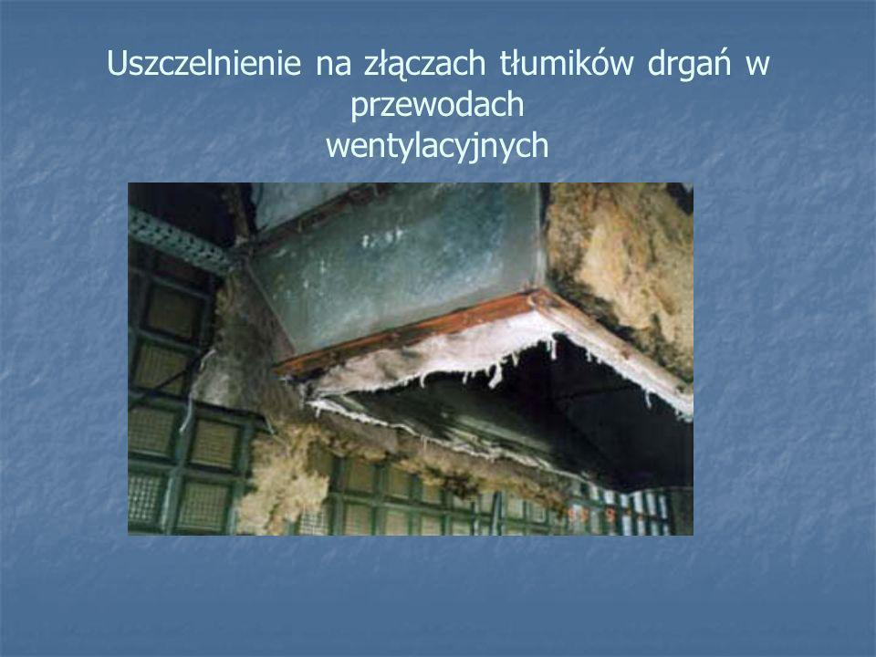 Uszczelnienie na złączach tłumików drgań w przewodach wentylacyjnych