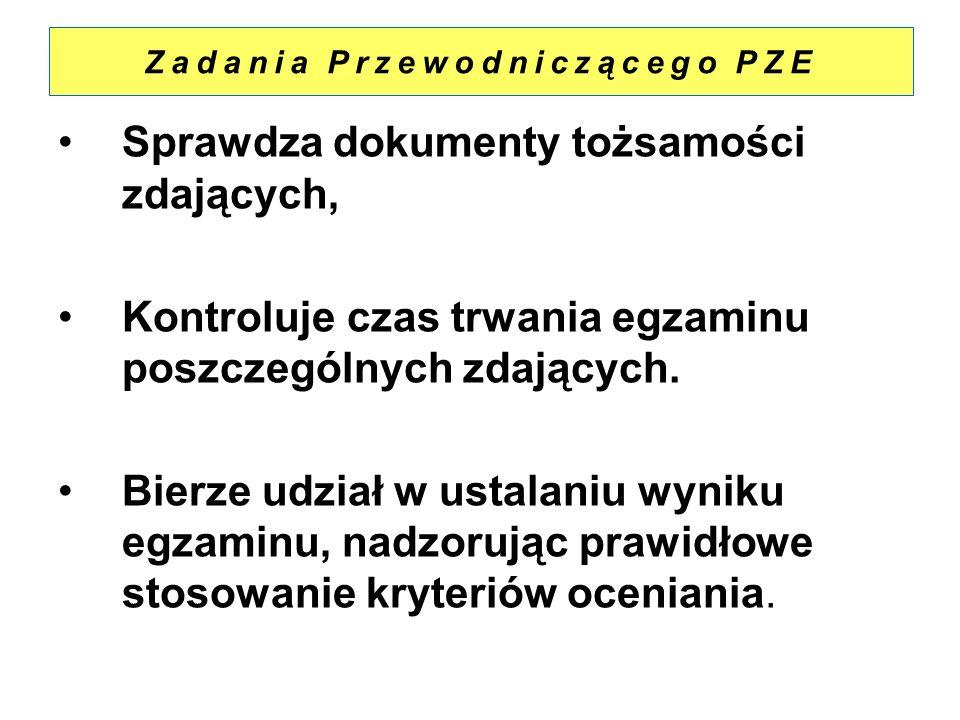 Zadania Przewodniczącego PZE