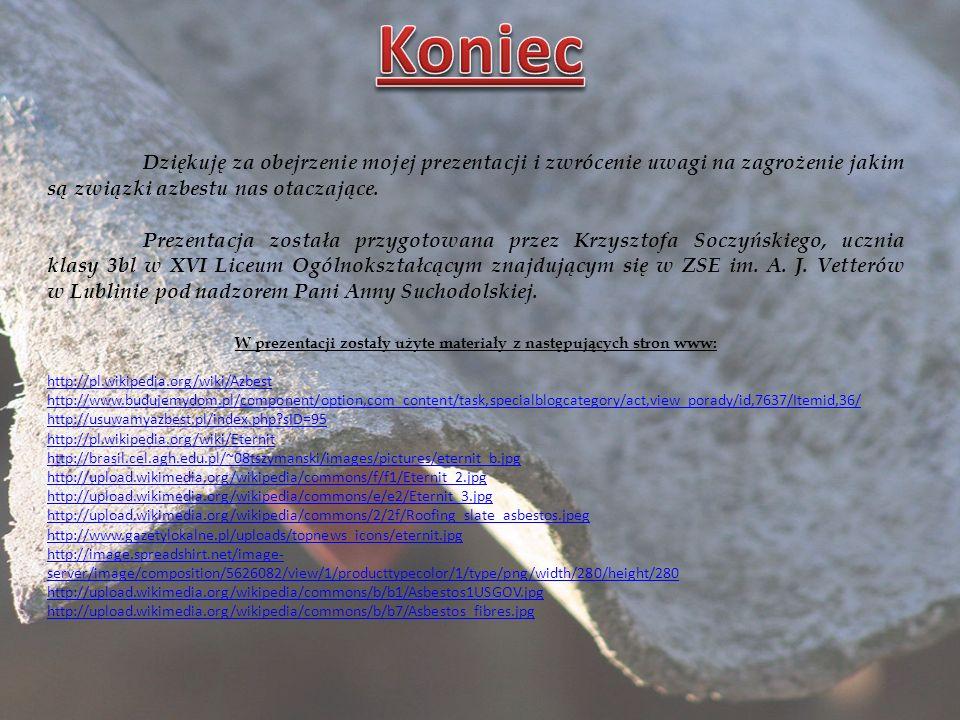 W prezentacji zostały użyte materiały z następujących stron www: