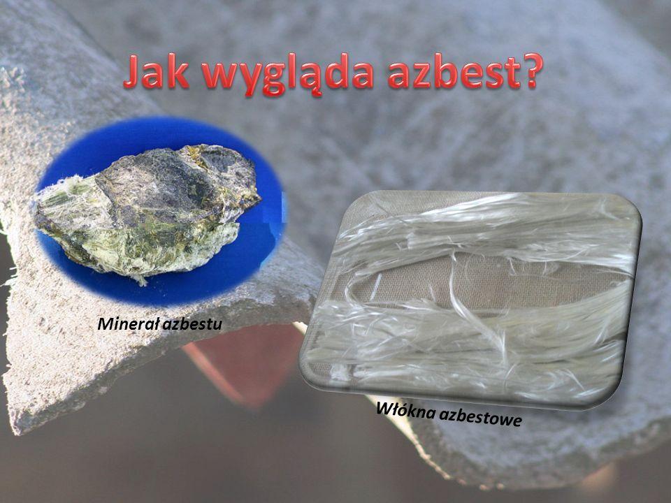 Jak wygląda azbest Minerał azbestu Włókna azbestowe