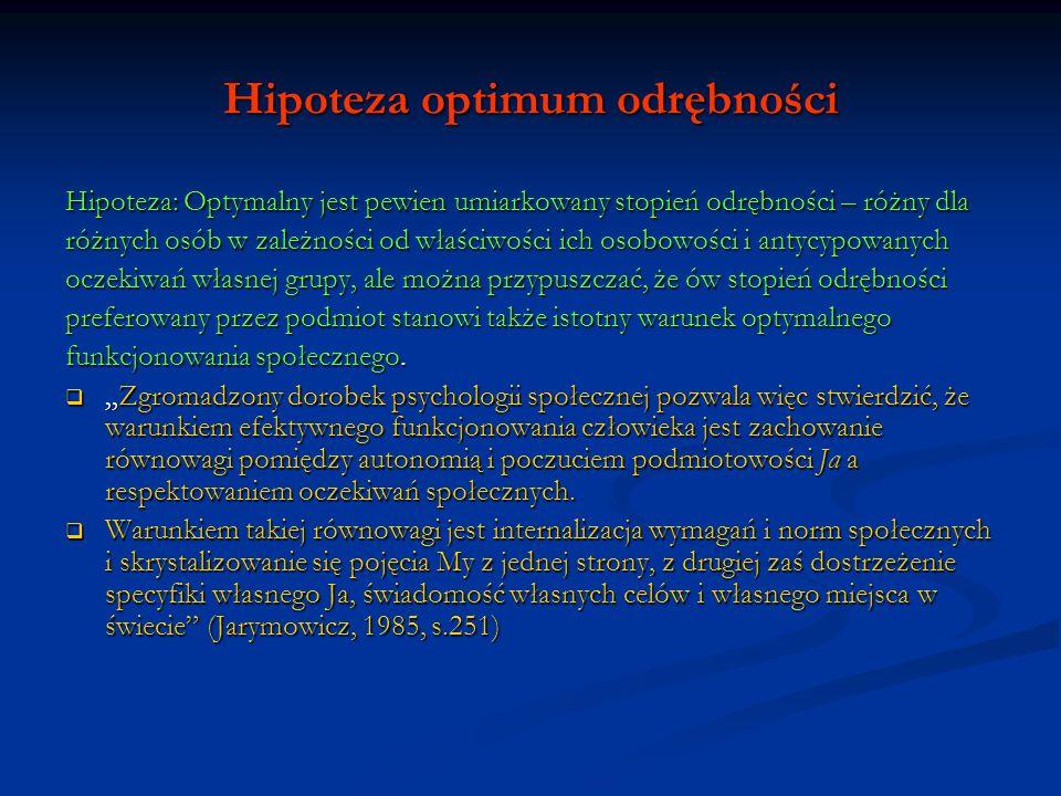 Hipoteza optimum odrębności