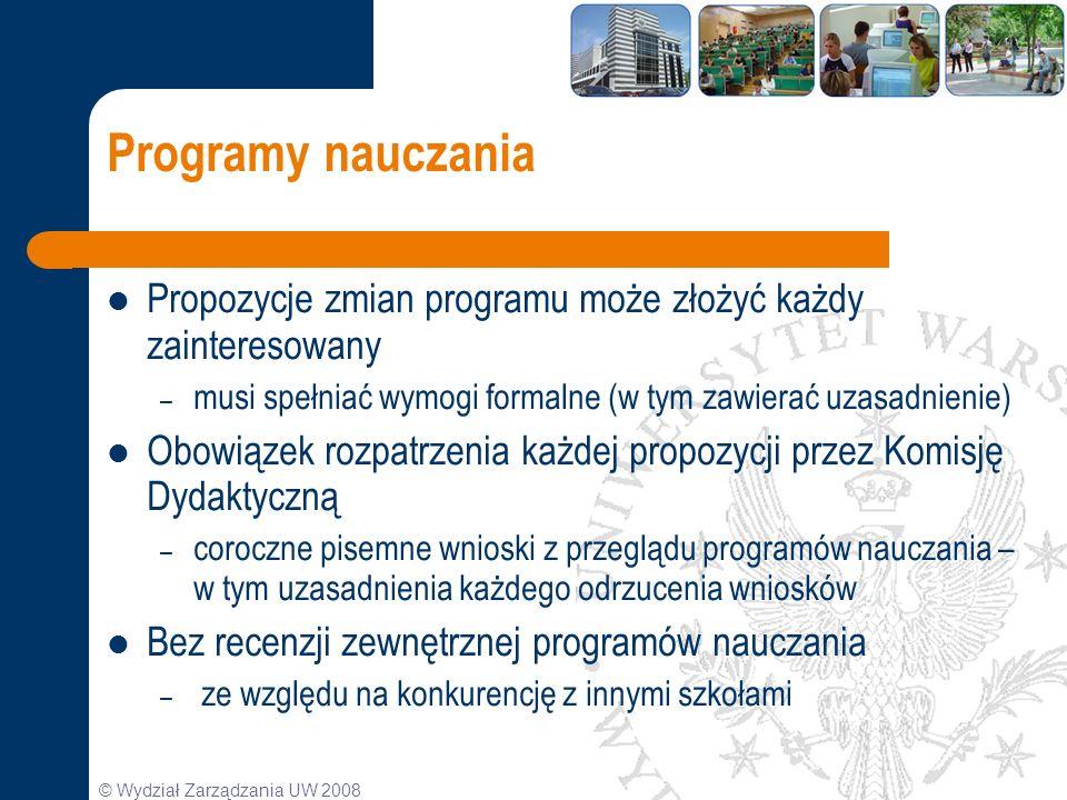 Programy nauczania Propozycje zmian programu może złożyć każdy zainteresowany. musi spełniać wymogi formalne (w tym zawierać uzasadnienie)