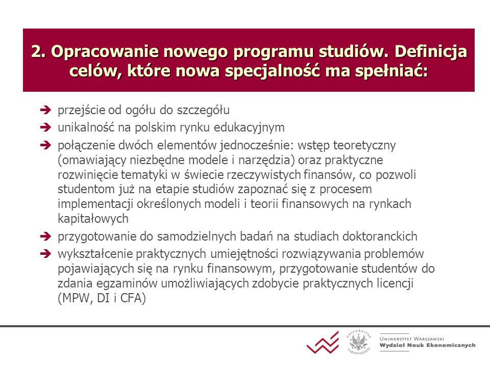 2. Opracowanie nowego programu studiów