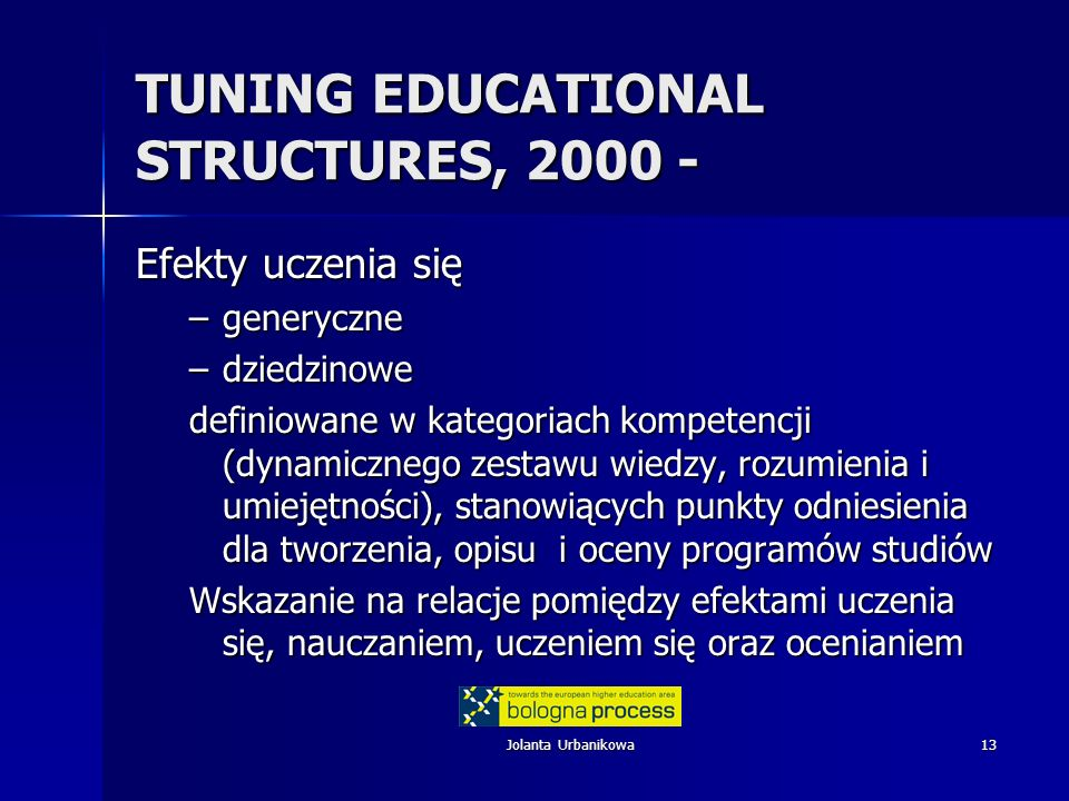 TUNING EDUCATIONAL STRUCTURES, 2000 -